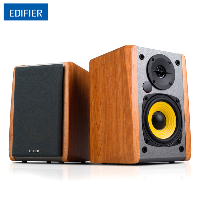 Edifier R1010BT Bluetooth Speaker Medium Density Fiberboard Active Bookshelf 4 Bass Driver Combination