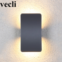 Double creative outdoor LED wall light up and down aluminium villa corridor fixture