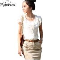 2016 Summer Style Brand New Turn Down Collar Casual Slim Chiffon Blouses Women Shirt Female Blouse