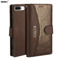 IDOOLS Case For Oneplus 5 5 5 Inch PU Leather Wallet Flip Covers Vintage Original Phone
