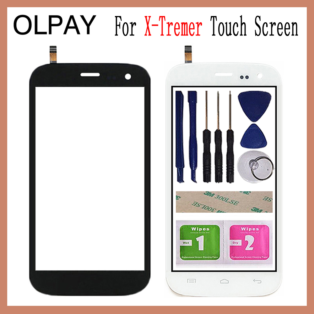 OLPAY 5.0'' For Explay X-Tremer Touch Screen Glass Digitizer Panel Lens Sensor Glass Free Adhesive And Wipes