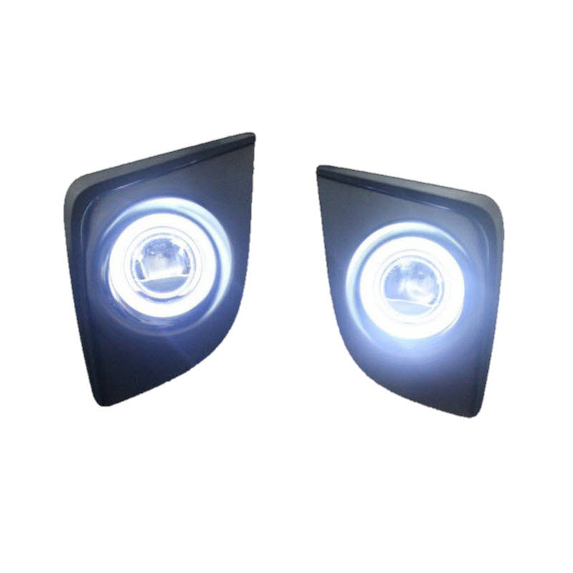 Car-Styling For Toyota Corolla Levin LED Angel Eyes DRL Yellow Signal Light H11 Halogen / Xenon Fog Lights with Projector Lens 2x led car door welcome light for toyota corolla emblem logo projector lamp for toyota corolla spoiler estate levin coupe saloon