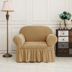Image 4 - Nova capa de sofá elástico 3d xadrez slipcover universal capas móveis com saia elegante para sala estar sofá poltrona