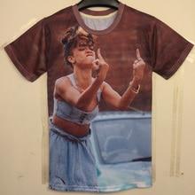 Alisister New Women/Men 3D T Shirt Cartoon Printed Rihanna T-Shirt Fashion Short Sleeve Cotton 3D Tops Tee Shirt Plus Size XL