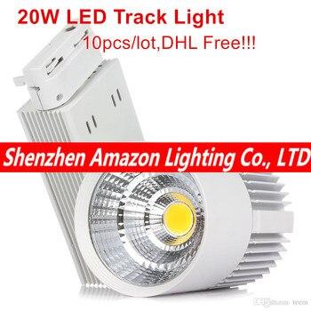 Светодиодная подсветка COB, 20 Вт, освещение для помещений, железнодорожные светильники, прожектор, одежда, магазин обуви, 110 В, 120 В, 220 В, 240 в, те