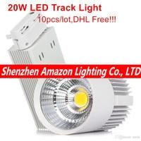LED COB Track Light 20W Indoor Lighting Rail Lights Spotlight Clothing Shoe Shop 110V 120V 220V 240V Warm Natural Cold white