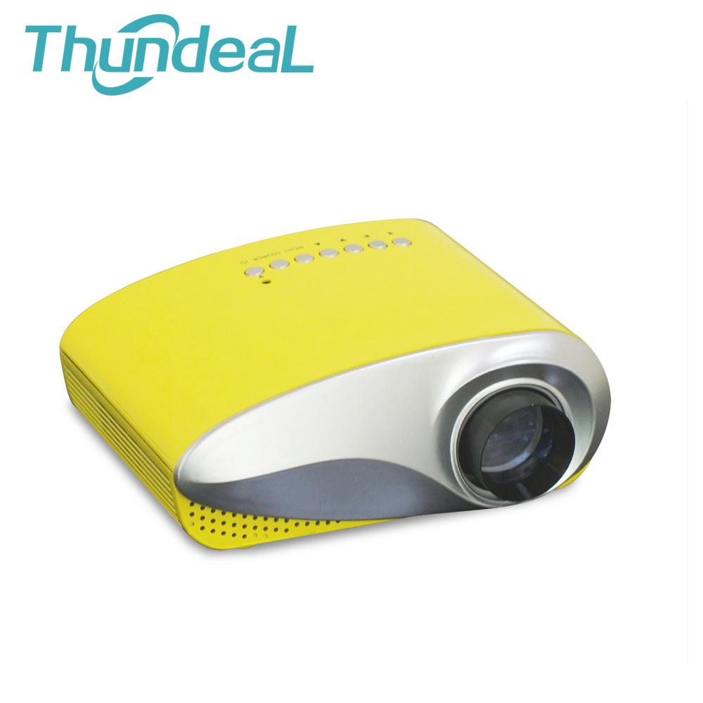 Prix pour Date 200 lumens 3D Beamer LED Électrique projektor Portable Vidéo Pico Micro proyector Mini Projecteur HDMI USB AV VGA TV Tuner