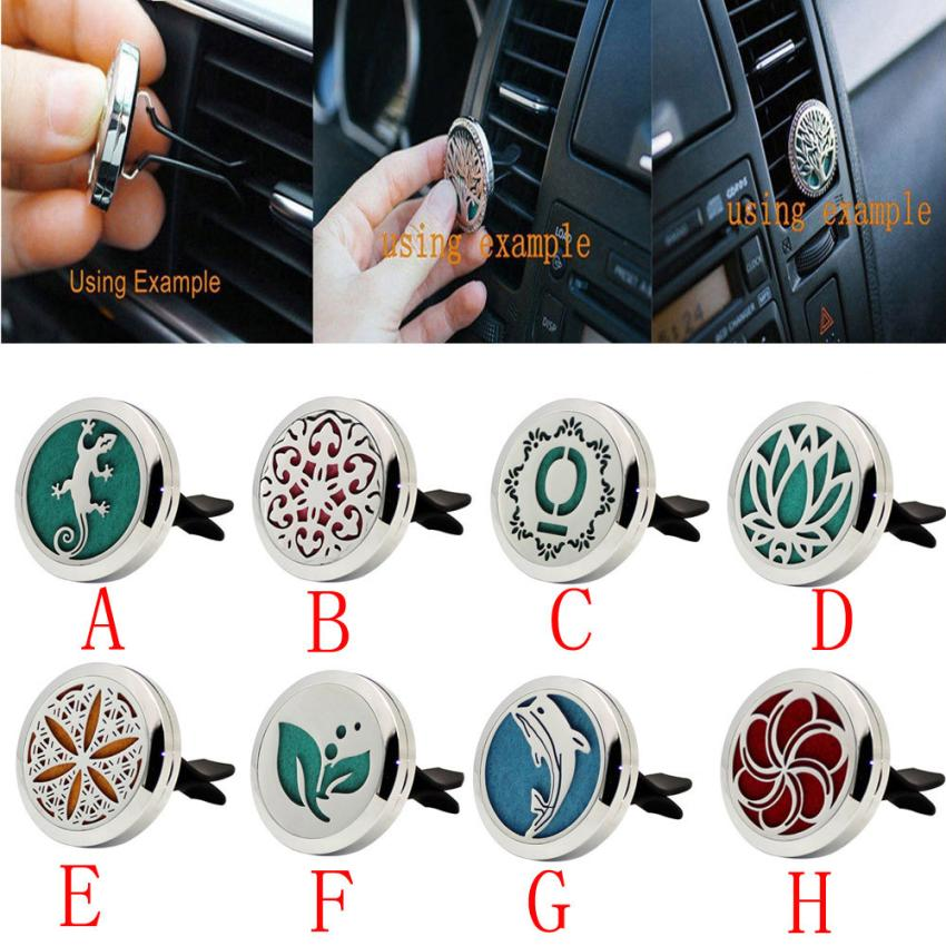 car interior accessories stainless car air outlet fragrant perfume clip vent freshener essential. Black Bedroom Furniture Sets. Home Design Ideas