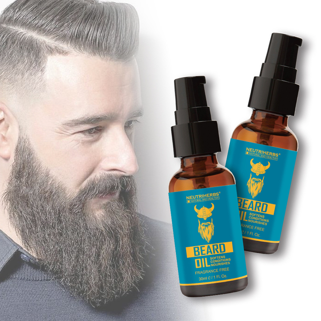 NEUTRIHERBS Beard Oil for Beard Growth Pure Natural Plant Extract Beard Balm Aftershave Softens Nourishes Fragrance Free 30ml/pc 2