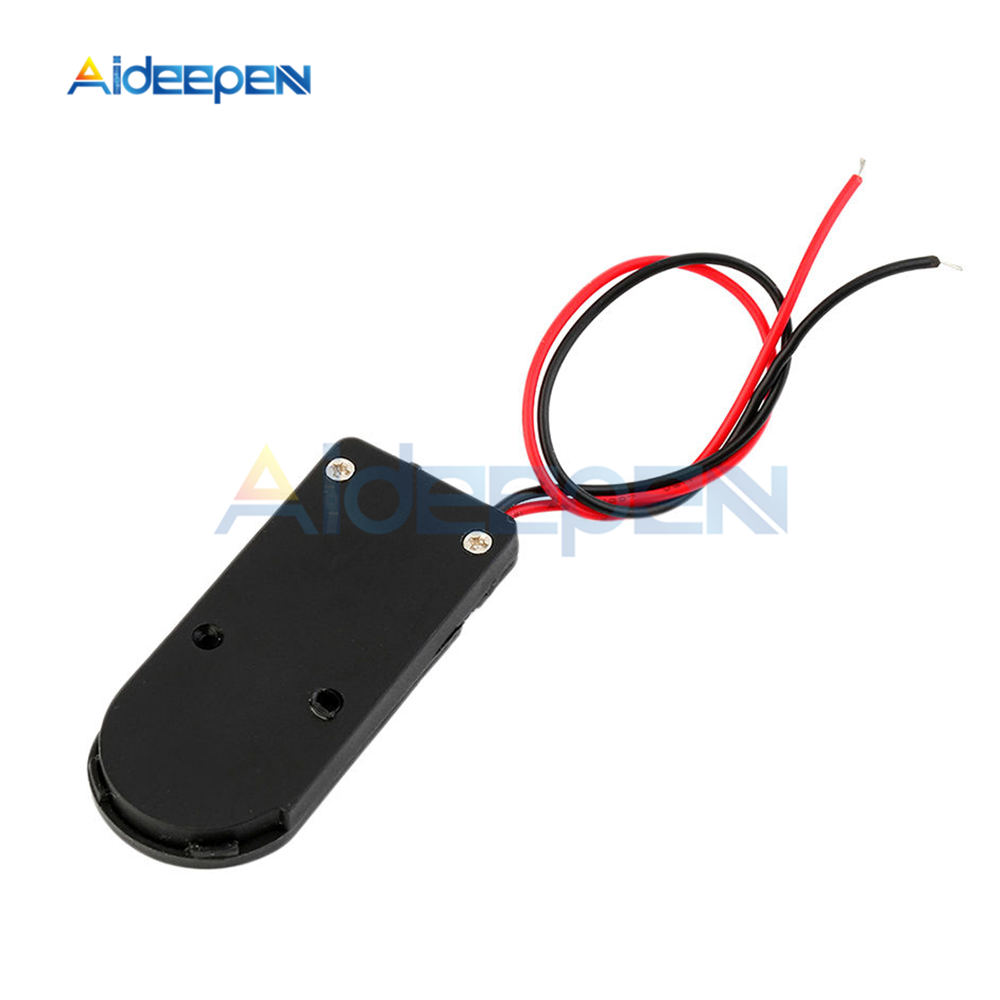 CR2032 coin button cell battery socket holder case with on//off switch lead I2