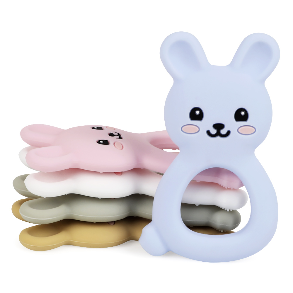 TYRY 5PC/10PC Animal Baby Teether Bunny Shape Teething Pendant For DIY Chewable Necklace Food Grade Toddler Teether Toys