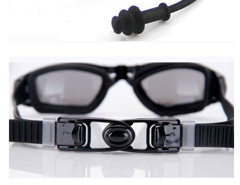 Silicone Professional Myopia Swimming Goggles With Earplug Anti Fog For Men And Women 8