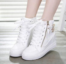 Spring 2016 new high-top slope with lace-up women casual shoes