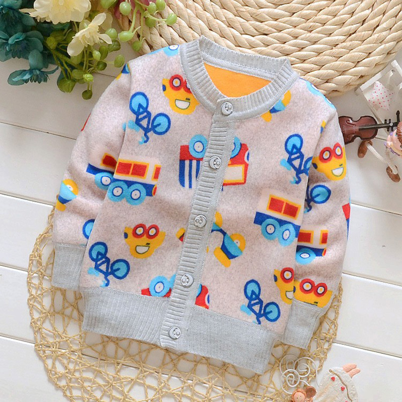 BibiCola children sweaters newborn baby boys girls cardigan warm outewear coat infant kids clothes for autumn winter underwear