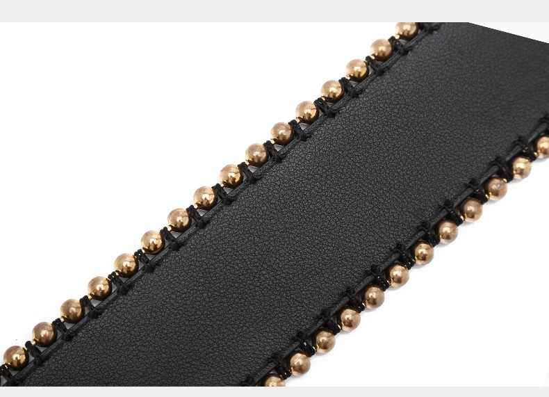 NIGEDU брендовая кожаная сумка ремень для сумки модные заклёпки широкий плечевой Сумки интимные аксессуары черный, красный, белый цвет