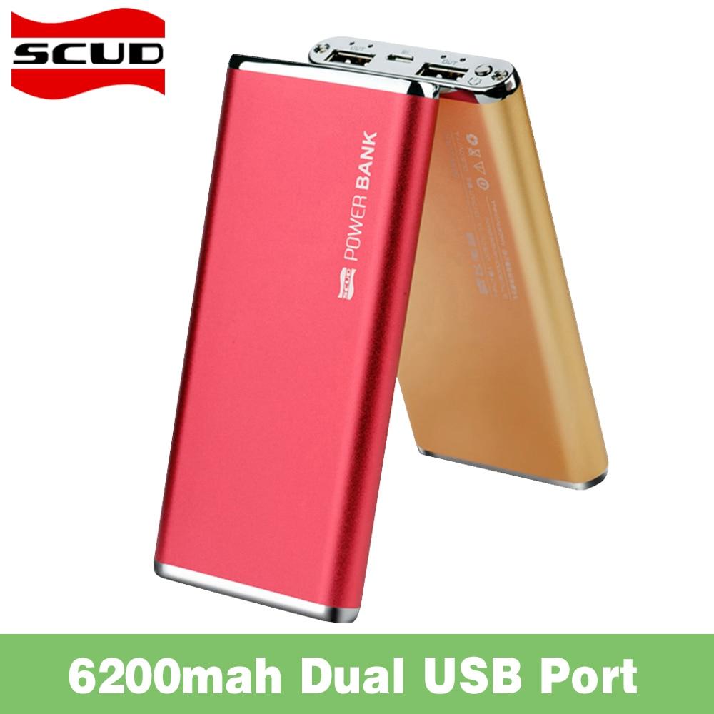 Scud dual usb powerbank cargador de batería de reserva externa universal para ip