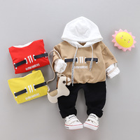 Boy Clothes Set for Spring Autumn Full Sleeve Hoodie Sweater+pants 2pcs Clothing Active Outfits Casual Toddler Tracksuit Letter