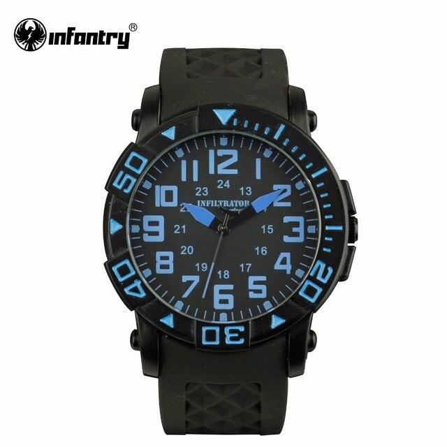 46671ae888c INFANTARIA Militar Homens Relógio Grande Moda Esporte Relógios Mens  Relógios Top Marca de Luxo Relogio masculino