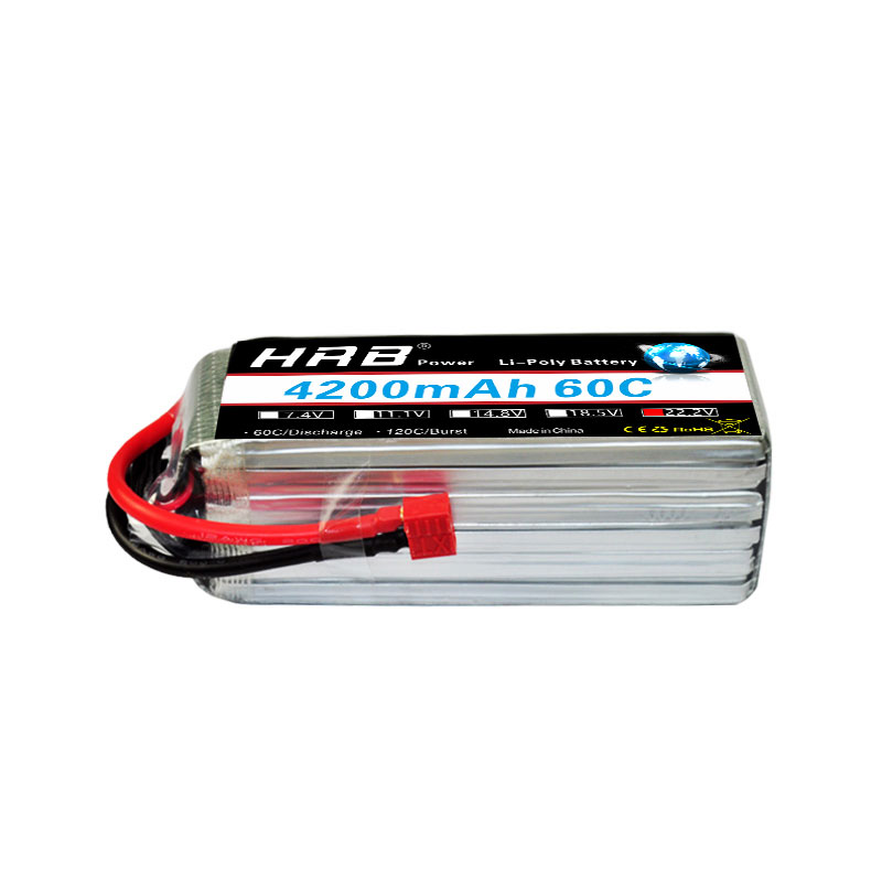HRB ipo Battery 6S 22.2V 4200mah 60C burst rate 120C xt60 deans xt90 RC Lipo Bateria for RC Quadcopter(China)