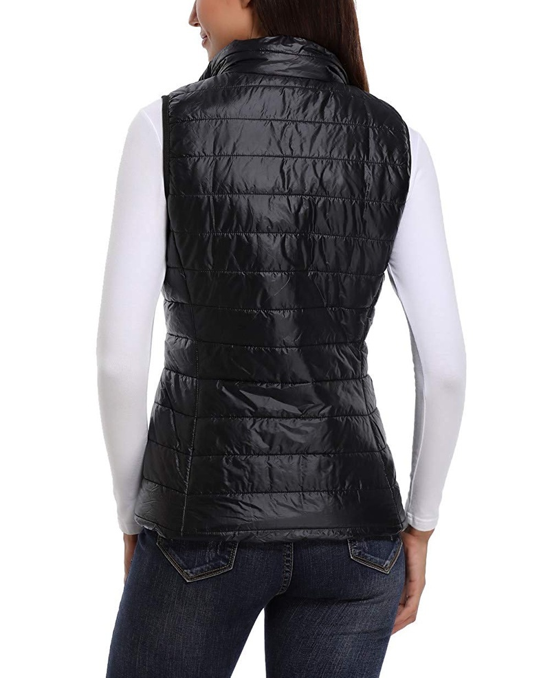 ab6dc0506f1e2 Womens Packable Lightweight Warm Zip up Stand Collar Quilted Gilets Padded  Puff Vest Outwear with 2 Zip up Pocket Drop Shipping-in Vests   Waistcoats  from ...