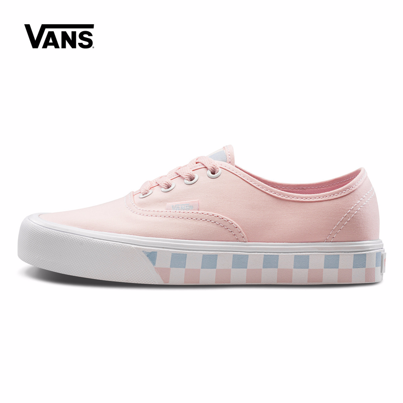 Pink Grid Sneaker Vans Women Classic Authentic Lite Low-top Skateboarding Shoes Sport Outdoor Sneakers Canvas Shoes VN0A2Z5JT1J