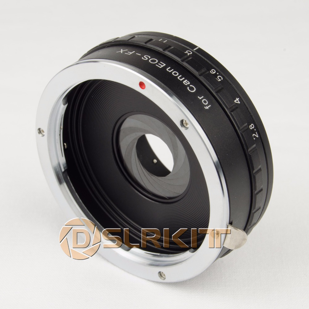 DSLRKIT Build in Aperture Lens Mount Adapter for Canon EOS EF to Fujifilm FX Fuji X-PRO1 X-E1 X-T1