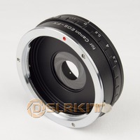 DSLRKIT Build In Aperture Lens Mount Adapter For Canon EOS EF To Fujifilm FX Fuji X