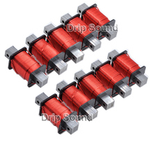 1 sztuk 1.2mm 0.8mH 2.6mH wzmacniacz Audio głośnik Crossover dławik z żelaznym rdzeniem 4N beztlenowej cewka z drutu miedzianego # czerwony