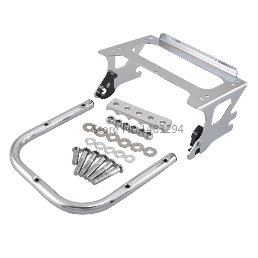 Motorcycle Trunk Shelf Rack Bracket Plating Fit For Harley Road King Street Electra Road Glide 97