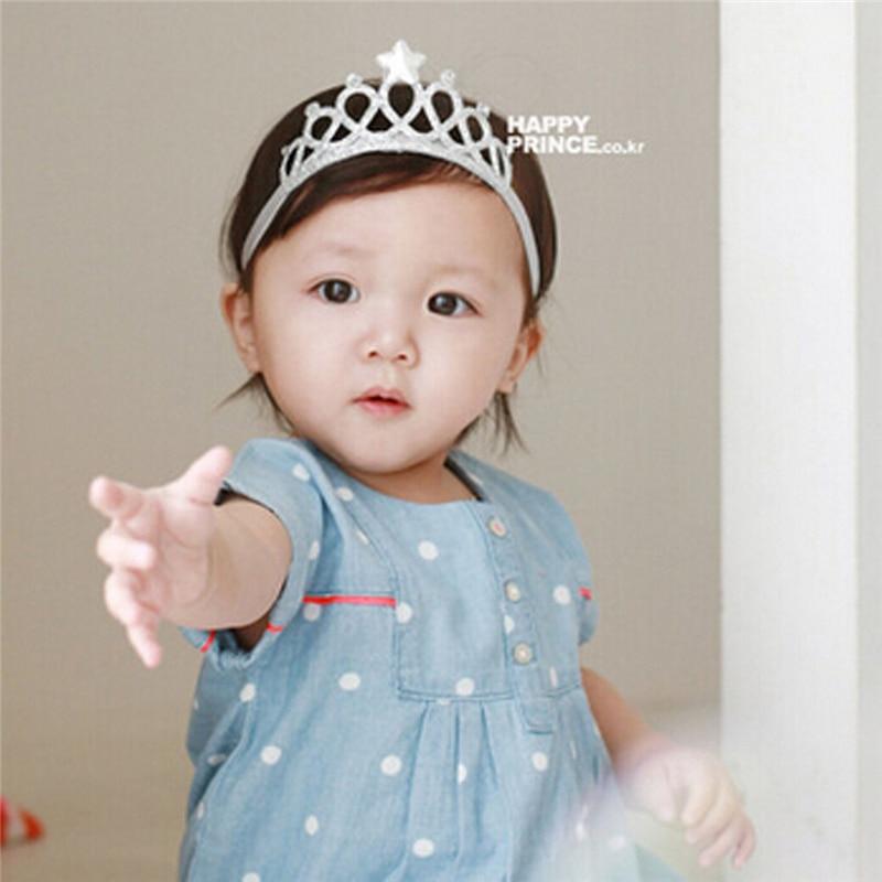 Toddler Baby Kids Girl Headwear Princess Bowknot Rhinestone Wedding Crown Headband 2017 New Arrival Hot Sale Party Gift Headwear