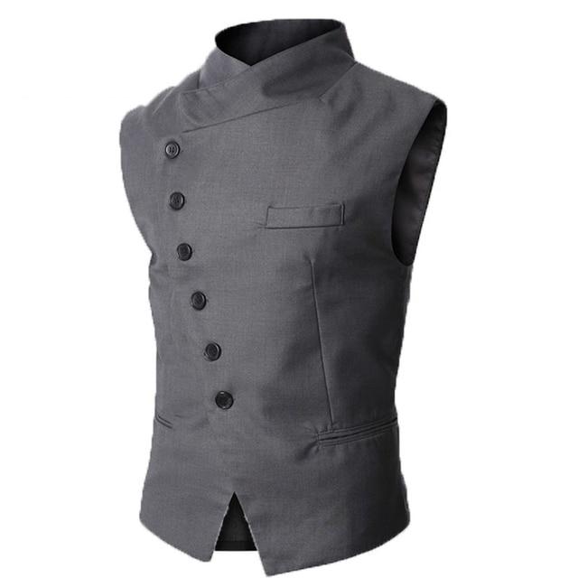 4c8f41e2cc3 2017 New Arrival Spring and Autumn Dress Vests For Men Work Sleeveless  Blazer Masculine Gilet Homme