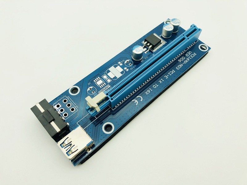 10 pièces USB 3.0 Riser PCI-E Express 1X 4x 8x 16x Extenseur Riser Adaptateur Convertisseur Carte SATA 15pin Mâle à 6pin Câble D'alimentation pour BTC