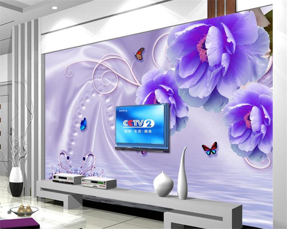 Beibehang principal mode belle creative papier peint intérieur maison rêve fleur fond mur fleurs papel de parede wallpape