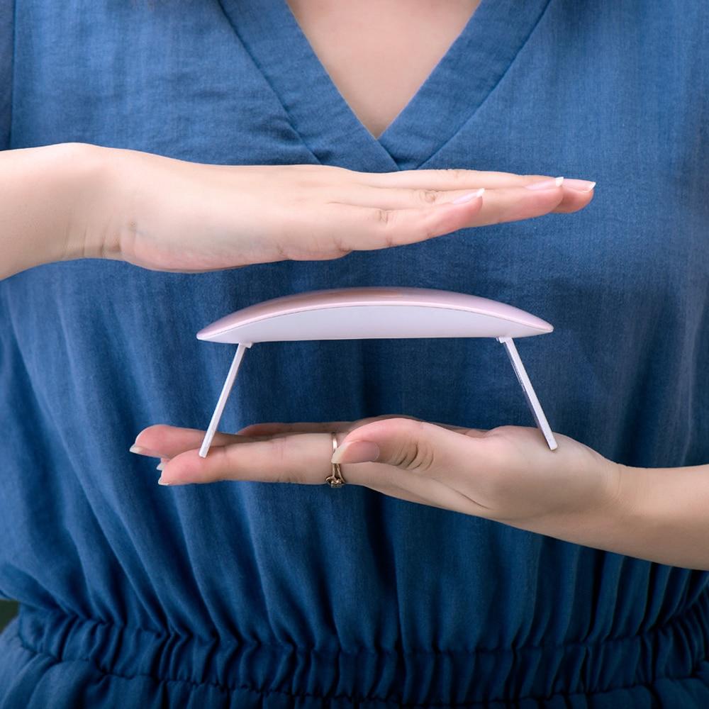 Modelones SUNmini 6 Вт УФ светодиодный лампы ногтей сушилка Портативный USB кабель для премьер подарок дома Применение гель лак для ногтей сушилка ми...