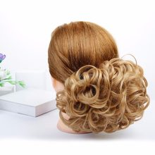DIFEI Short Curly Chignon Women's Synthetic Hair Bun Black Brown Hair Extension With Chignon Rubber band Combs in Hairpiece(China)