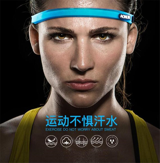 AONIJIE Sports Sweatband Women Men Silicone Breathable Quick Dry Fitness Yoga Hair Bands Gym Guiding Belt Sweat Head 2