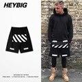 BLANCO hombres de la calle Skateboard Shorts American hipster ropa HEYBIG HIP HOP pantalones cortos TAMAÑO CN