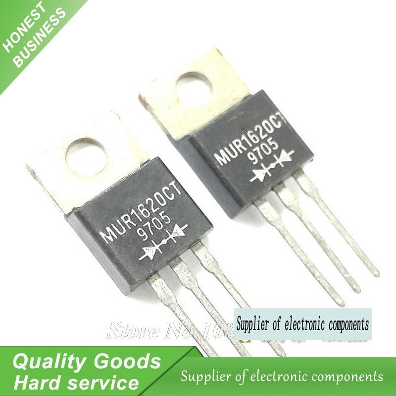mur1620 - 10PCS MUR1620CT MUR1620 TO220 Fast Schottky Diode New Original
