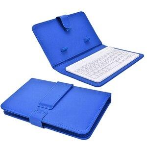 Image 5 - Przenośna, skórzana, bezprzewodowa obudowa na klawiaturę dla iPhone ochronny telefon komórkowy z klawiaturą Bluetooth dla IPhone 6 7 Smartphone