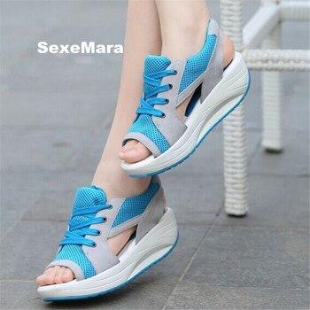 Chaussures de course d'été pour femmes baskets femmes swing sandales chaussures de Sport femme maille plate-forme chaussures arena athlétique zapatos mujer