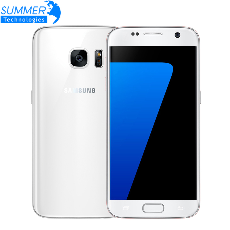 Original Samsung Galaxy S7 LTE 4G Mobile Phone Quad Core 5.1'' 12.0MP NFC Waterproof 4G RAM 32G ROM  NFC GPS 12MP Smartphone