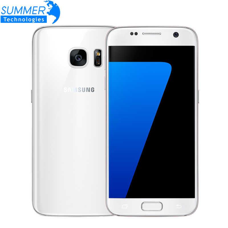 Оригинальный samsung Galaxy S7 LTE 4G мобильный телефон четырехъядерный 5,1 ''12.0MP NFC Водонепроницаемый 4G ram 32G rom NFC gps 12MP смартфон