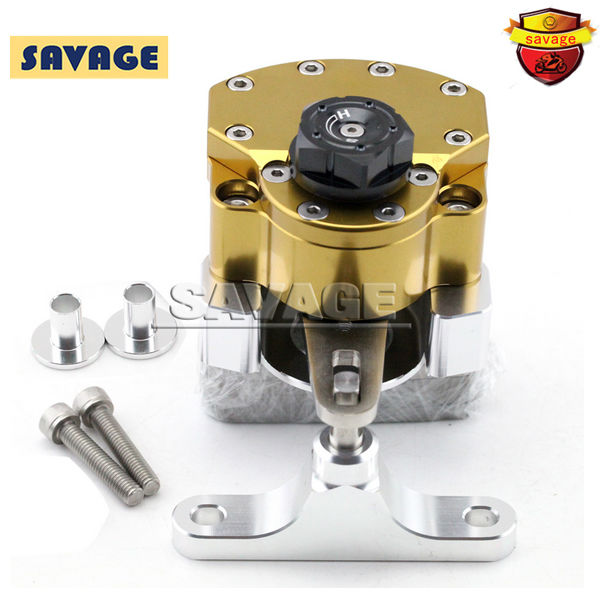 For HONDA CBR 400R/500R CBR400R CBR500R 2013-2015 Gold Motorcycle Steering Damper Stabilizer with Mounting Bracket Kit motocycle accessories for honda cbr400r cbr500r cbr 400r 500r 2013 2015 stabilizer steering damper with mount bracket black
