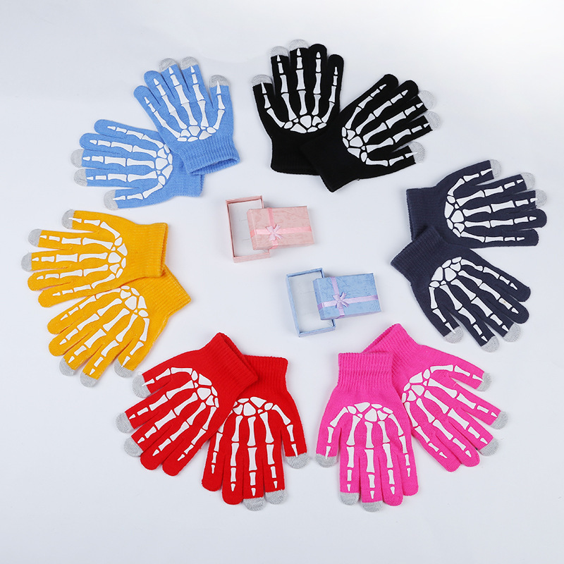 Fashion Dispensing Ghost Claw Touch Screen Gloves Unisex Warm Skid Knitting Finger Gloves B21