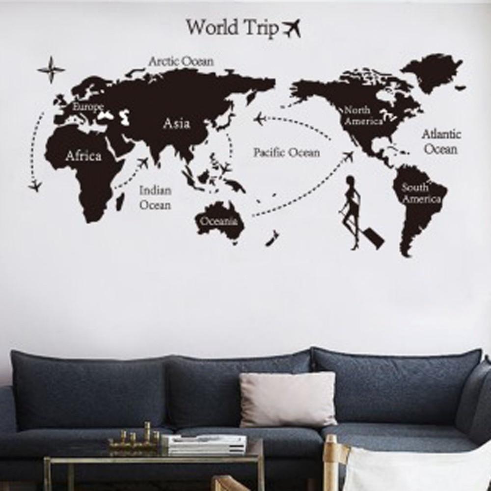 Mundial de viajes compra lotes baratos de mundial de viajes de 2016 til trip world map extrable cotizacin del arte del vinilo de pared sticker decal decoracin mural gumiabroncs Images