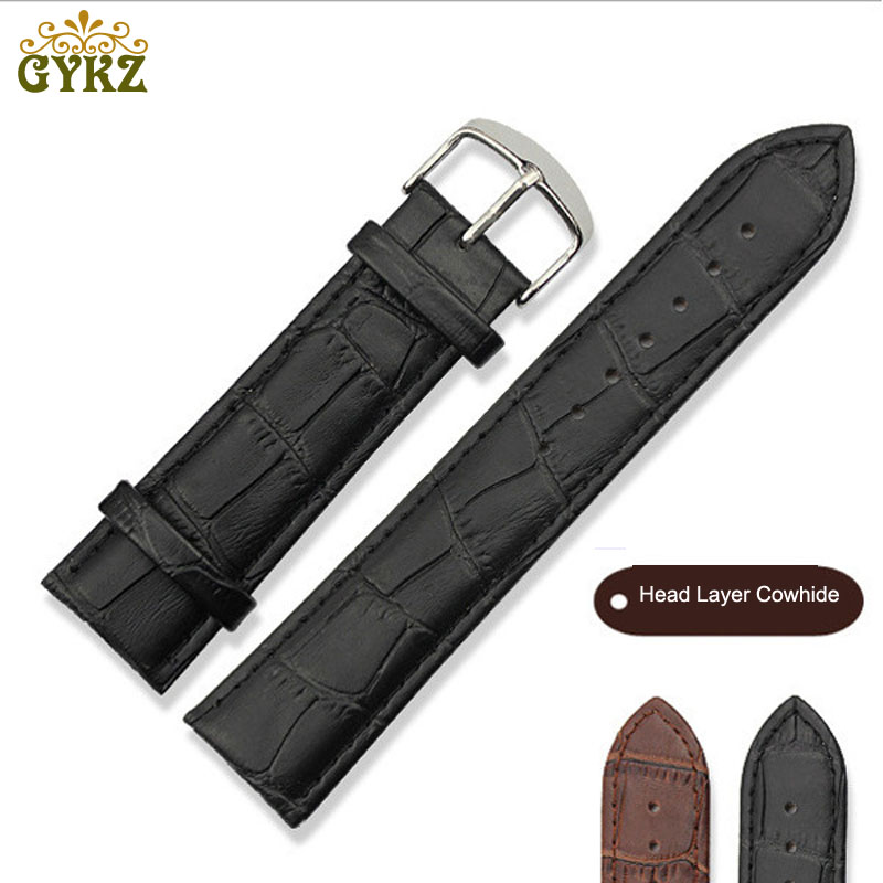 Crocodile Pattern Genuine Leather Watch Band Strap for Hours Watchband 16mm 20mm 22mm For Men Women Wristbands Universal Black women crocodile leather watch strap for vacheron constantin melisa longines men genuine leather bracelet watchband montre