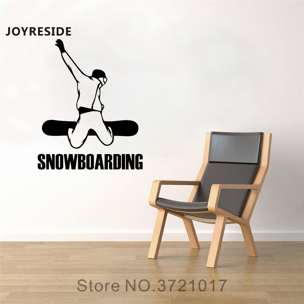 JOYRESIDE Snowboarding Wall Snowboarder Decal Vinyl Sticker Sports Room Decor Boys Bedroom Living Room Interior Decoration A081