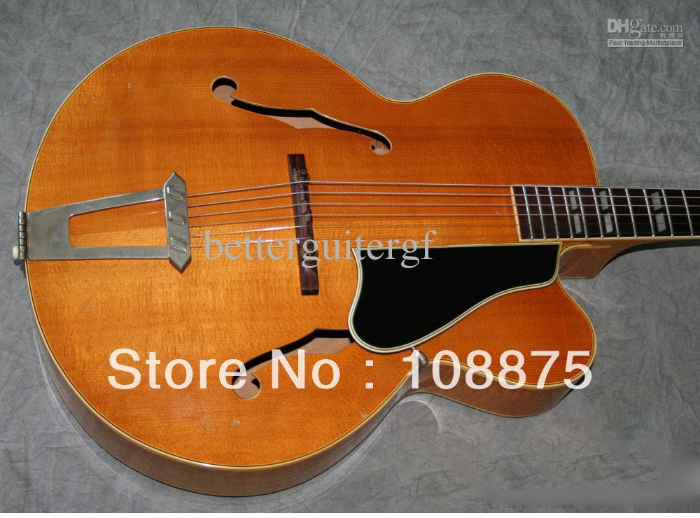 hot selling guitar 6 strings electric guitars musical instruments 7 cn vintage archtop guitar l7. Black Bedroom Furniture Sets. Home Design Ideas