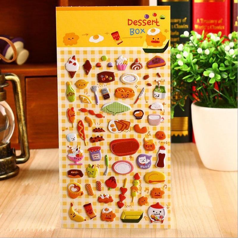 1 Blatt snacks party perspektive blase tagebuch dekorative aufkleber - Klassisches Spielzeug - Foto 3