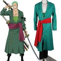 2015 Hot Anime Costume One Piece The Straw Hat Pirates Roronoa Zoro Cosplay Costume